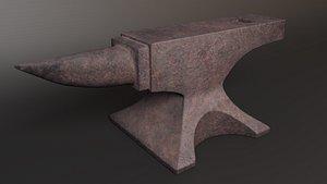 Old Rusty Anvil 3D model