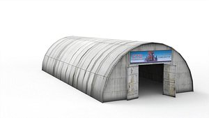 3D metal hangar model