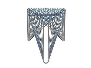 bench seat 3D model