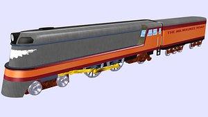 3D hiawatha milwaukee class steam locomotive model