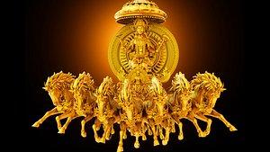 3D god surya bhagavan