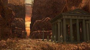 temple greek 3D model