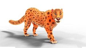 Fur Female Leopard Rigged model