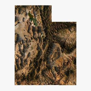 3D model Relief map of Utah