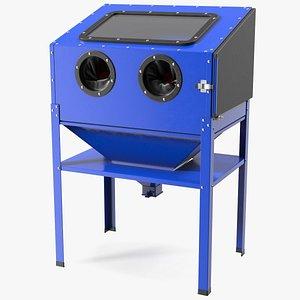 Sandblast Cabinet Blue 3D