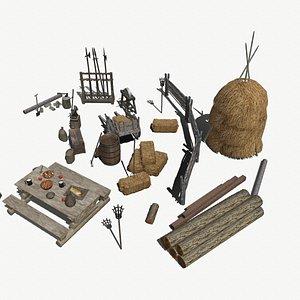 3D medieval asset pack