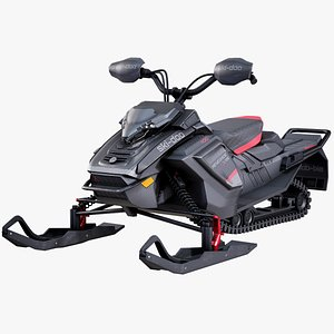 3D ski-doo renegade snowmobile
