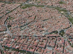 3D valencia city