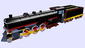 3D cpr hudson h-1b steam locomotive model