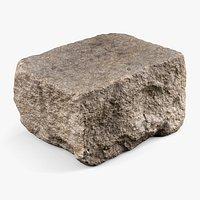 Granite Block Rock - 8K Scan