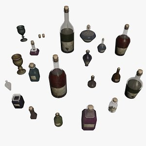 ampoules bottles magical model