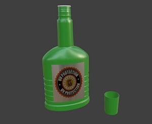 3D lotion bottle