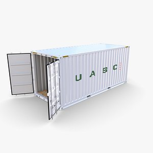 20ft Shipping Container UASC v2 3D model