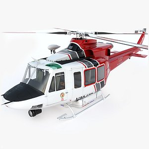 Helicopter Bell 412 LAFD model