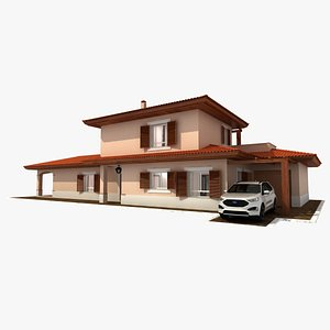 residential villa 3D model