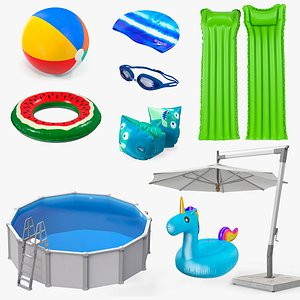 3D swimming pool accessories 6