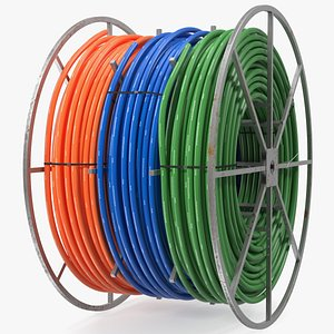 3D hdpe conduit reel model