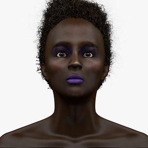 woman head l1156 3D model