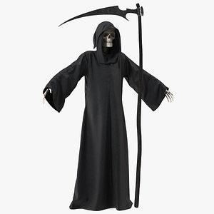 3D model Death Character with Scythe Rigged