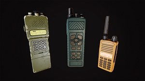 military portable radio set 3D model
