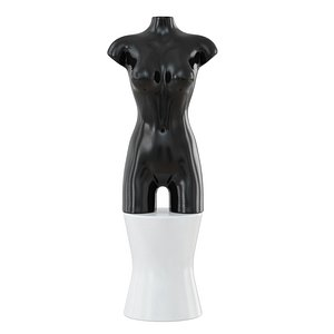 Female abstract mannequin on decorative stool 102 3D model