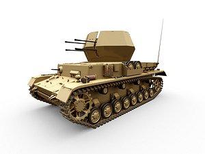 3D iv wirbelwind panzer tank model