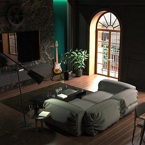 Paris 2021 Modern Living Room model