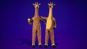 FurSuit Giraffe 3D