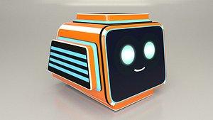 3D model Game Character Robot Head