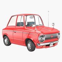 Toyota Corolla 1967 Cartoon Style
