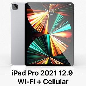 Apple iPad Pro 12-9 Cellular 2021 3D model