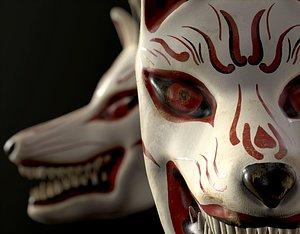 japan fox mask 3D