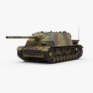 3D ww2 german panzer iv model
