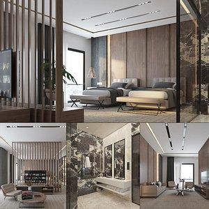 Hotel Suite Interior 3D model