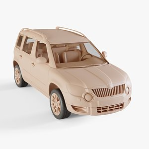 2010 Skoda Yeti 3D model