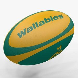 Rugby Ball Wallabies L1494 3D model