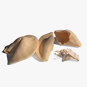 Fortune Cookies 3D model