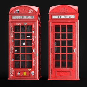 London Telephone Booth 3D
