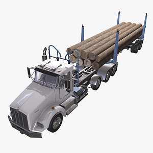 Kenworth T800 Log Truck 3D