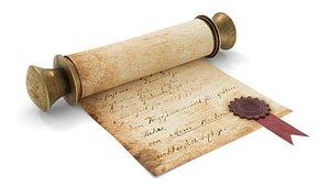 ancient scroll 3D model