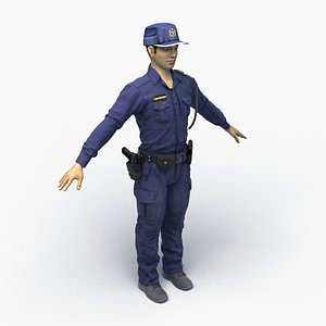 3D taiwan police officer 0008