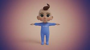 3D baby boy model