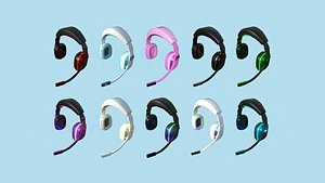 10 Headset Gamer Collection - Character Fashion Design model