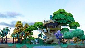 3D cartoon environment