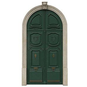 Entrance classic door 42 3D model