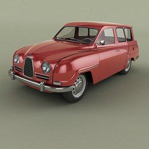 1960 saab 95 3D