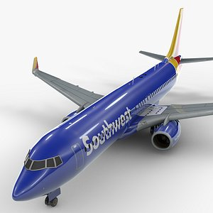 3D model boeing 737-8 southwest airlines