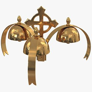 golden liturgical bell 3 3D model