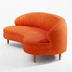 3D Camila Velvet Sofa