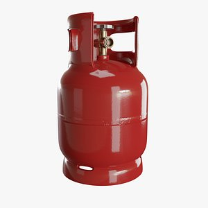 Gas Cylinder Red 3D